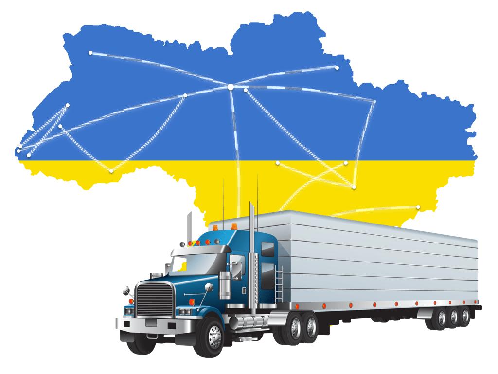 карта грузопотоков Украины