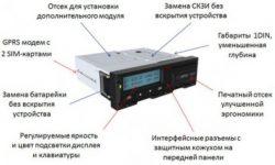 Схема тахографа с модулем GPRS
