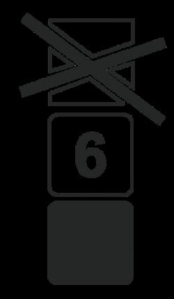 Знак предела штабелировки.