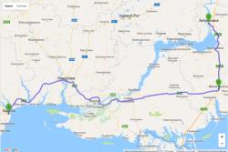 Автомобильный маршрут Одесса-Запорожье