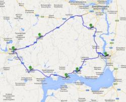 На фото Вы видите два маршрута из Кривого Рога в Запорожье.