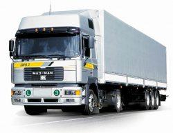 Магистральная фура для доставки товаров в портовый склад.