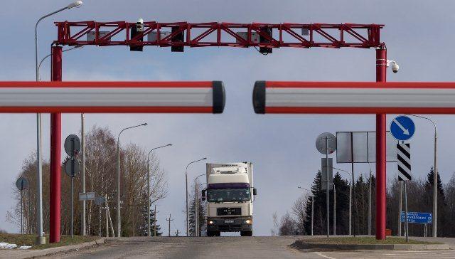 Въезд на белорусскую границу.