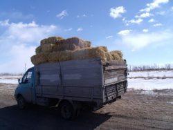Легкий груз в кузове малотоннажного грузовика.