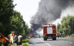 Пожар бензовоза в Молдове.