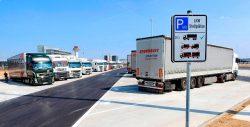 Современный паркинг для грузовиков.