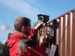Монтаж видеонаблюдения на грузовом паркинге.