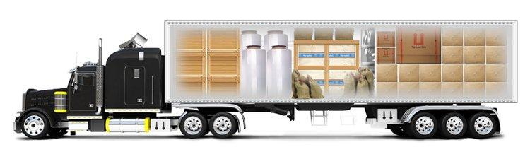 Размещение грузов в кабине автомобиля.
