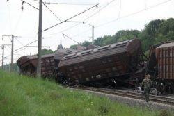 Авария грузового состава в Винницкой области.