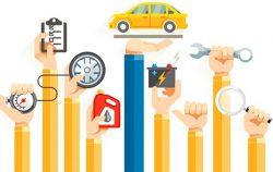 Виды технического обслуживания автомобилей, в том числе грузовых.