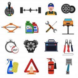 Инструменты для технического обслуживания и ухода за грузовиком.