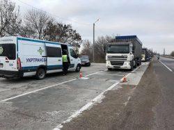 Задержание колонны фур с перегрузами в Николаевской области.